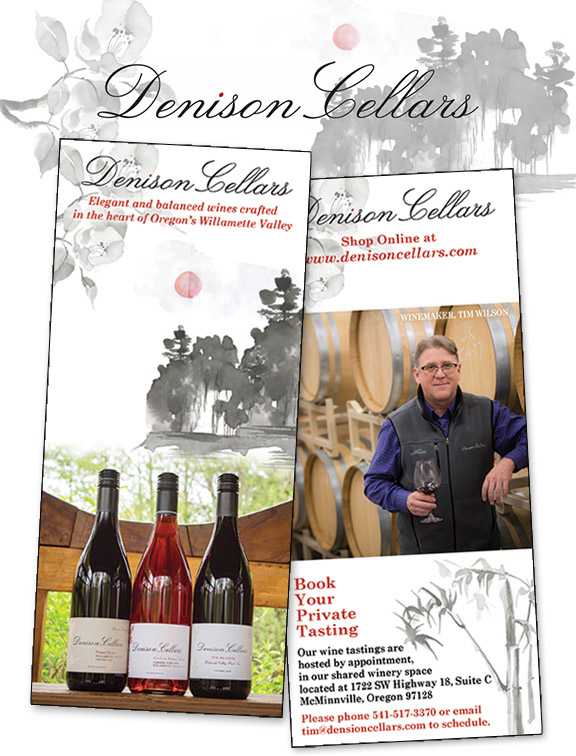 Denison Cellars Rack Card